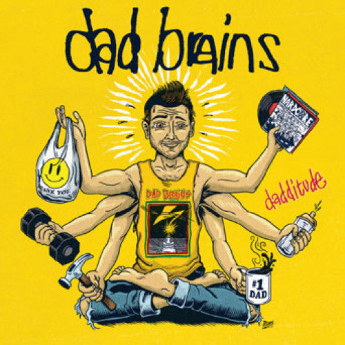 "PIR235-1 Dad Brains ""Dadditude"" 7"" Album Artwork"