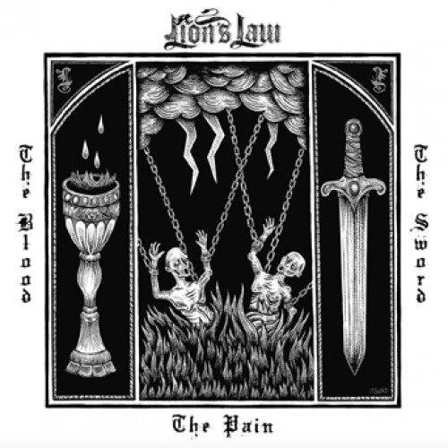 "PIR263 Lion's Law ""The Pain, The Blood, And The Sword"" LP/CD Album Artwork"