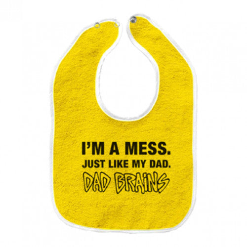 "Dad Brains ""Logo"" -  Baby Bib"
