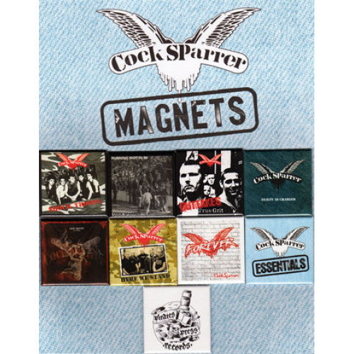 "PIRMAG01 Cock Sparrer ""Album Covers"" -  Magnet Pack Default Title Album Artwork"