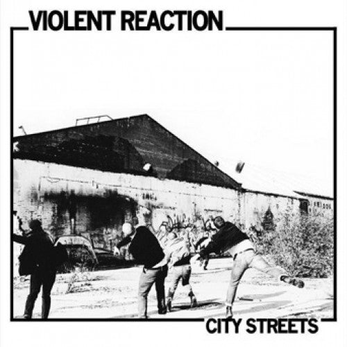 "PKR047-1 Violent Reaction ""City Streets"" LP Album Artwork"