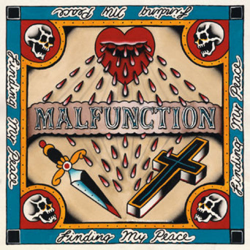 "REAP054-1 Malfunction ""Finding My Peace"" 7"" Album Artwork"