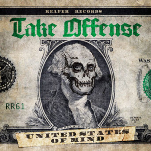 "REAP061-2 Take Offense ""United States Of Mind"" CD Album Artwork"