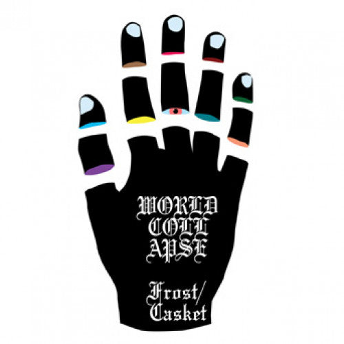 "REAP062-1 World Collapse ""Frost/Casket"" 7"" Album Artwork"