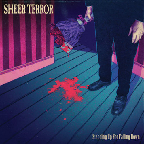 "REAP068-1 Sheer Terror ""Standing Up For Falling Down"" LP Album Artwork"