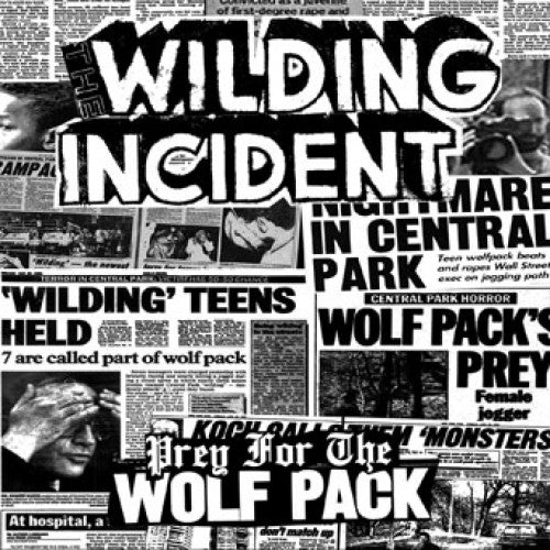 "REAP076-1 The Wilding Incident ""Prey For The Wolfpack"" 7"" Album Artwork"