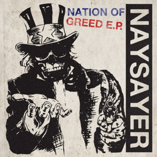 "REAP077-1 Naysayer ""Nation Of Greed"" 7"" Album Artwork"