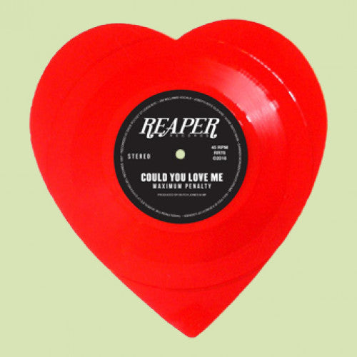 "REAP078-1 Maximum Penalty ""Could You Love Me"" 7"" Shaped Disc Album Artwork"