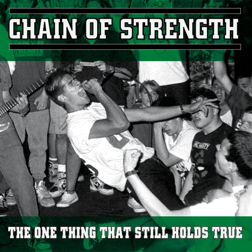 "REV010-1/2 Chain Of Strength ""The One Thing That Still Holds True"" LP/CD Album Artwork"