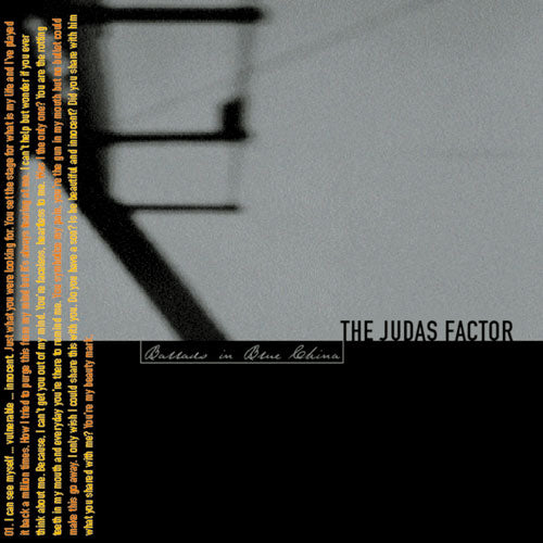 "REV078-2 The Judas Factor ""Ballads In Blue China"" CD Album Artwork"