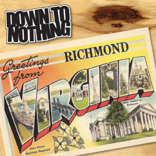 "REV152A-1 Down To Nothing ""Greetings From Richmond, Virginia"" 7"" Album Artwork"