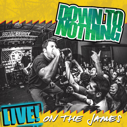 "REV165/A-1 Down To Nothing ""Live! On The James"" LP Album Artwork"