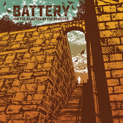 "REV170-1 Battery ""For The Rejected By The Rejected"" LP Album Artwork"