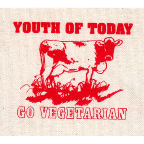 "REVCP008 Youth Of Today ""Go Vegetarian"" - Screenprinted Patch"