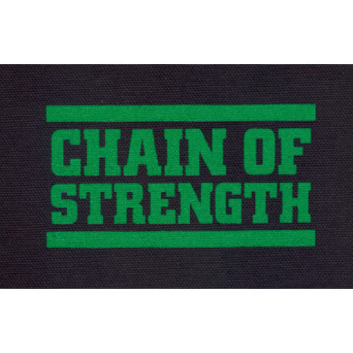 "REVCP010 Chain Of Strength ""Logo (Green On Black)"" -  Screenprinted Patch"