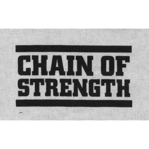 "REVCP013 Chain Of Strength ""Logo (Black On White)"" -  Screenprinted Patch"