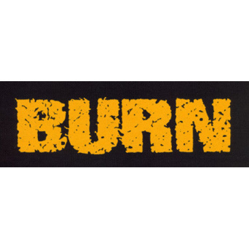 "REVCP022 Burn ""Logo (Gold On Black)"" -  Screenprinted Patch"