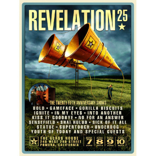 "REVFP02 Revelation Records ""25th Anniversary Poster By Gavin Oglesby"" -  Poster"