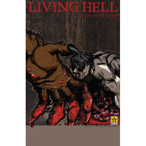 "REVPOST145 Living Hell ""The Lost And The Damned"" -  Poster"