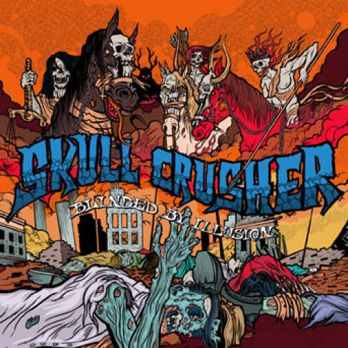"RFL106-2 Skull Crusher ""Blinded By Illusion"" CD Album Artwork"