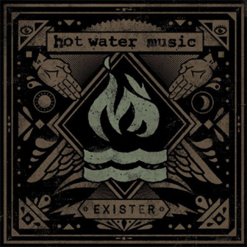 "RISE158-1 Hot Water Music ""Exister"" LP Album Artwork"