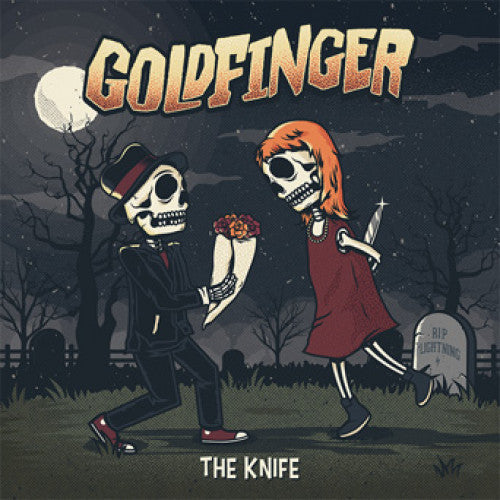 "RISE384-1 Goldfinger ""The Knife"" LP Album Artwork"