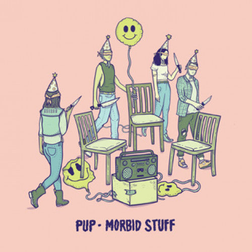 "RISE441-1 PUP ""Morbid Stuff"" LP Album Artwork"