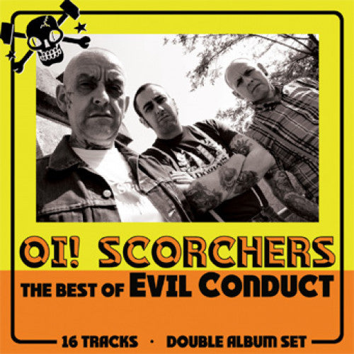 "SFU87-1 Evil Conduct ""Oi! Scorchers"" 2XLP Album Artwork"