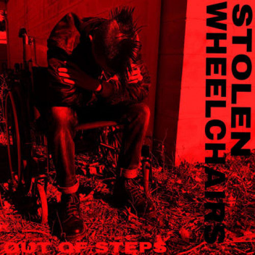 "SLNR26 Stolen Wheelchairs ""Out Of Steps"" 7""/CD Album Artwork"
