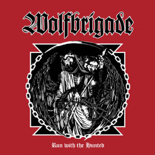 "SUNN238-1 Wolfbrigade ""Run With The Hunted"" LP Album Artwork"