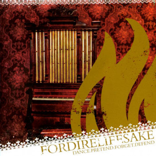 "THORP45-2 Fordirelifesake ""Dance.Pretend.Forget.Defend"" CD Album Artwork"