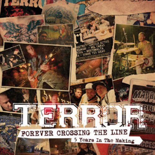 "TK122-2 Terror ""Forever Crossing The Line: 5 Years In The Making"" CD Album Artwork"