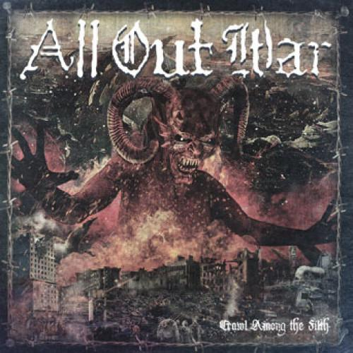 "UBR017-1 All Out War ""Crawl Among The Filth"" LP Album Artwork"