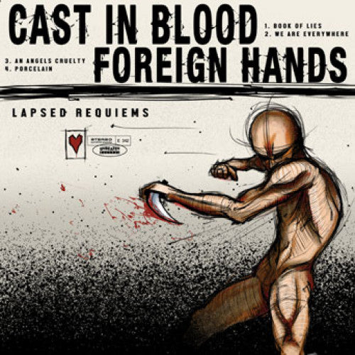 "UBR024-1/2 Cast In Blood / Foreign Hands ""Lapsed Requiems (Split)"" 10""/CD Album Artwork"