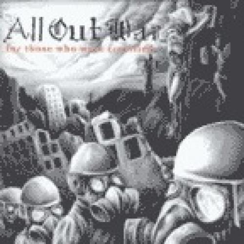 "VIC085-1 All Out War ""For Those Who Were Crucified"" LP Album Artwork"