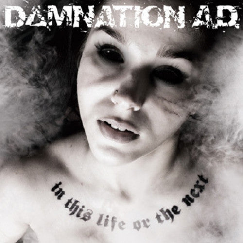 "VIC377-1 Damnation A.D. ""In This Life Or The Next"" LP Album Artwork"