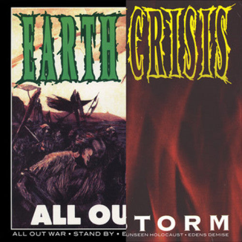 "VIC391-1 Earth Crisis ""All Out War / Firestorm"" LP Album Artwork"