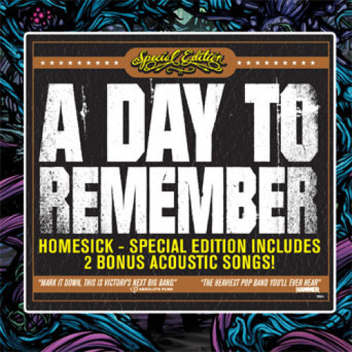 "VIC541-2 A Day To Remember ""Homesick"" CD Album Artwork"