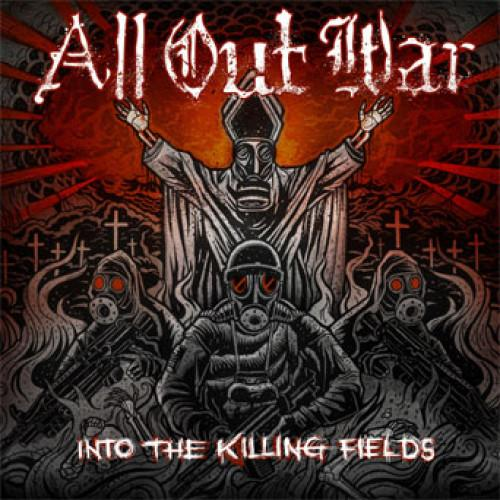 "VIC586-1 All Out War ""Into The Killing Fields"" LP Album Artwork"