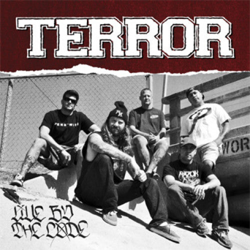"VIC693-4 Terror ""Live By The Code"" Cassette Album Artwork"