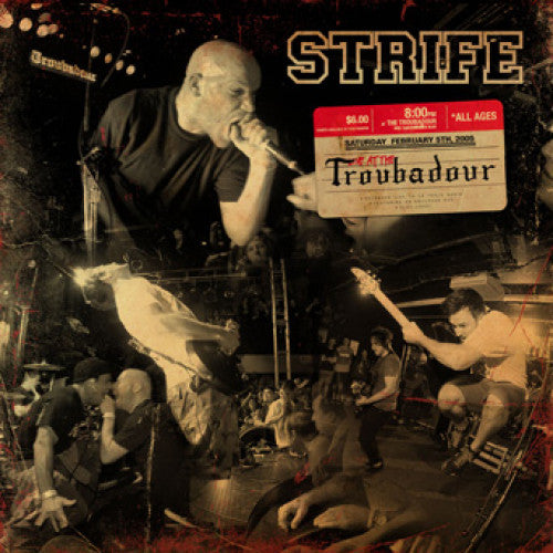 "WAR007 Strife ""Live At The Troubadour"" LP/CD Album Artwork"