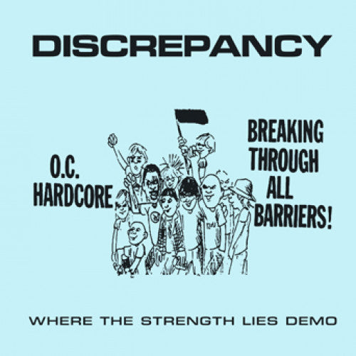 "YB42-1 Discrepancy ""Where The Strength Lies Demo"" 7"" Album Artwork"