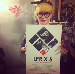 LPR X 5 Screen-Printed Poster