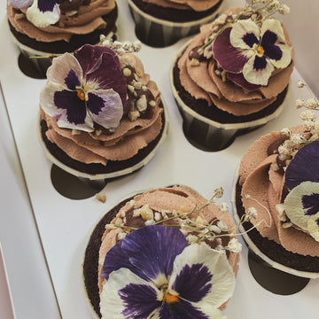 Hazelnut & Chocolate Cupcakes - Box of 6 or 12