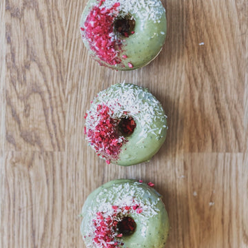 Matcha, Strawberry & Lemon Donuts - Box of 6 or 12