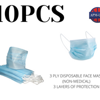 Pack of 10-3 Ply Disposable Face Mask (Non-Medical)
