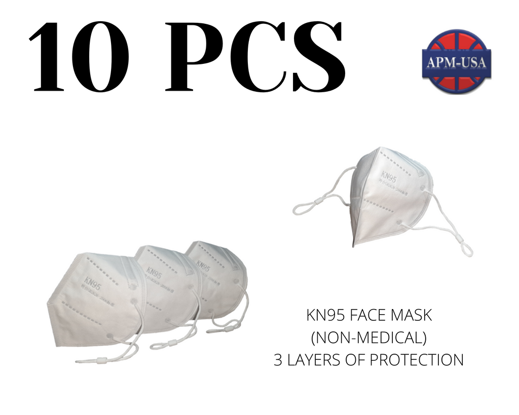 Qty10 KN95 Face Masks (Non-Medical)