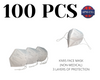 Qty 100 KN95 Face Masks (Non-Medical)