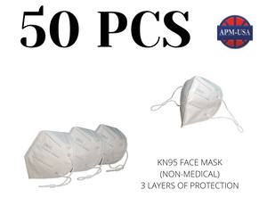 Qty50 KN95 Face Masks (Non-Medical)