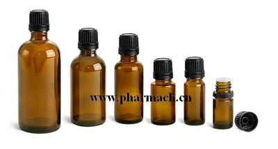 Amber Glass Dropper Bottle - Body Care Glass Bottle